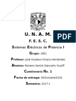 Cuestionario Sistemas Eléctricos de Potencia I