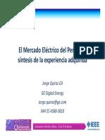 El Mercado Eléctrico Del Perú - Jorge Quiroz
