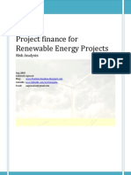 Project Finance Renewable Energy Projects Risk Analysis