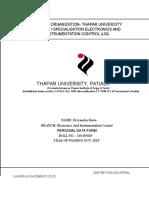 Thapar Format Resume