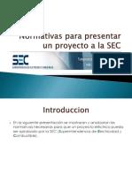 Normativas Para Presentar Un Proyecto a La SEC