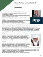 Webloader.com-How to Find the True Perfect Living Master