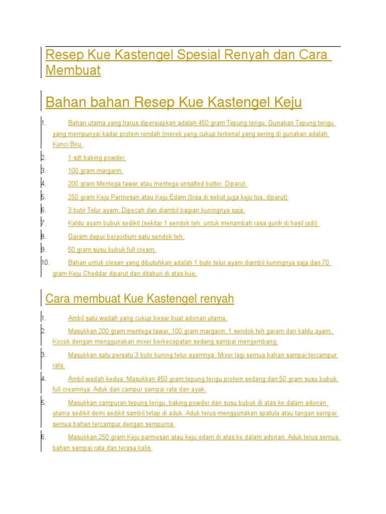 Resep Kue Kastengel Spesial Renyah Dan Cara Membuat Kastangel Keju Edam 1538317652v1