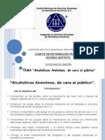 Alcoholicos Anonimos de Cara Al Publico 2016-2017