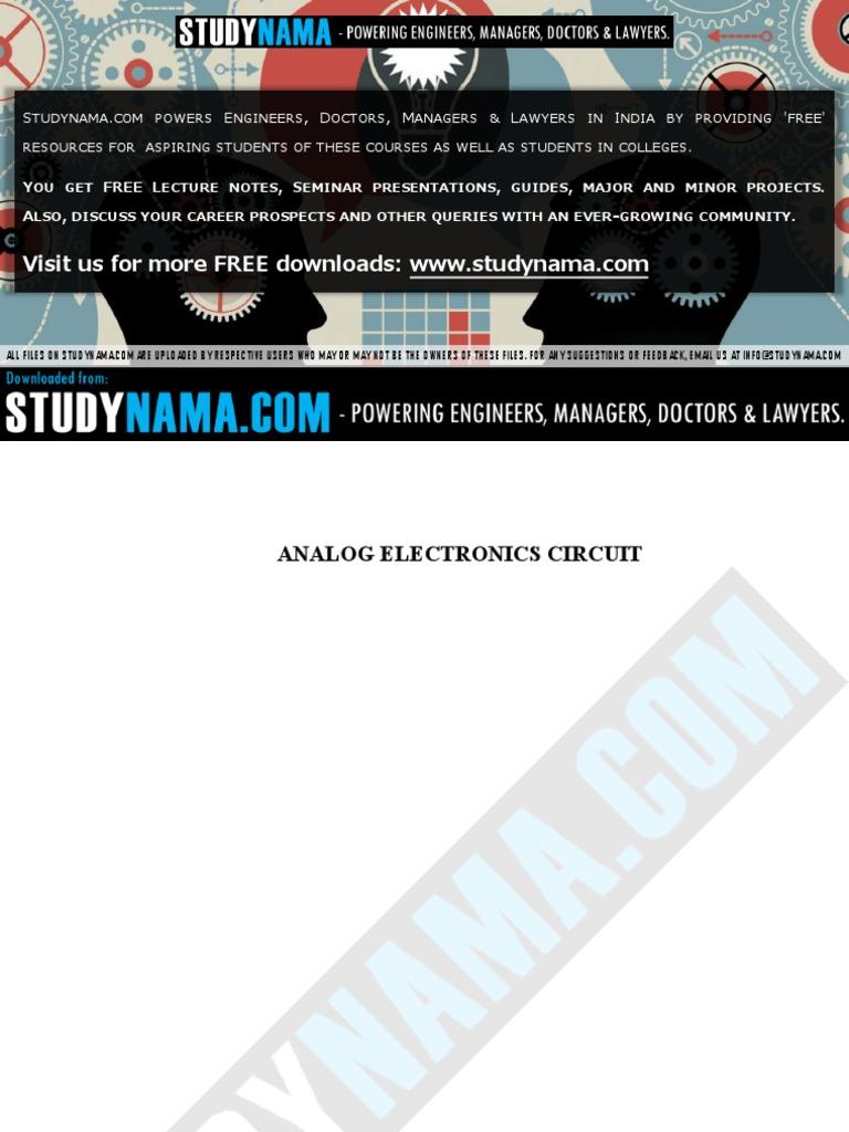 Ece Analog Electronics Circuit Amplifier Bipolar Junction Differentiator Besides Integrator Lifier Likewise Low Transistor