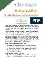 Tafsir Ibn Kathir - 109 Kafirun