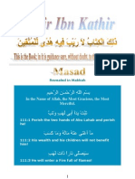Tafsir Ibn Kathir - 111 Masad