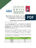 Circular 001 Resultados Convocatoria XVIII Encuentro Iberoamericano de Cementerios Patrimoniales e información para ponentes