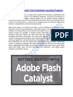 Adobe Flash Catalyst Tool Customized Learning Program