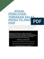 Proposal Penelitian Tindakan Kelas Prodi Pg