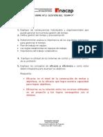 Gestión Del Tiempo - Informe