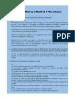 Cuestionario de Etiqueta y Protocolo