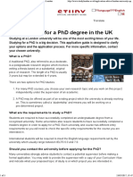 How to Apply for a PhD Degree in the UK - Study London