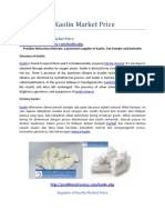 Supplier of Kaolin Market Price