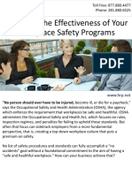 Maximize the Effectiveness of Your Workplace Safety Programs