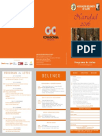 Asociacion Belenistas - PROGRAMA NAVIDAD 2016
