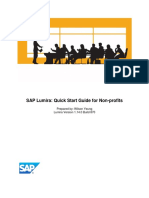 SAP Lumira Quick Start Guide for Nonprofits
