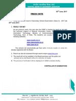 Press Note Class X 2017 (Declaration)