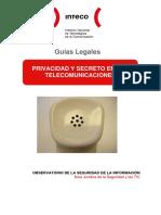 Privacidad - Secreto de Las Telecomunicaciones