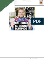 Antonelli, dal coma al sogno olimpico - Il Resto del Carlino del 4 giugno 2017