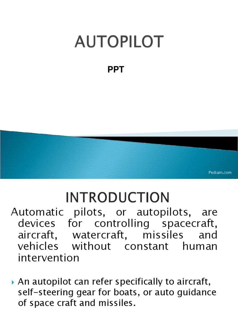 Autopilot Ppt | Lift (Force) | Airplane