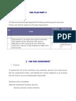 HSE Plan part 4