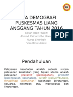 Data Demografi Puskesmas Liang Anggang Tahun 2016