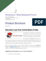 Central Bank Education Loan