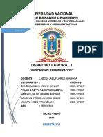 Derecho Laboral Descansos Remunerados MONO