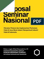Proposal Seminar Industri Halal