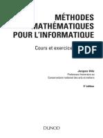 Méthodes Mathematiques Pour l'Informatique