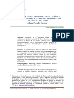 CARDOSO, Juliana Provedel. a Utopia Da Teoria Do Ordenamento Jurídico