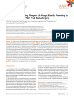 Variability of Offending Allergens of Allergic Rhinitis According to Age Optimization of Skin Prick Test Allergens