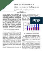 Development and Standardization of Hvdc Power Feeding Syst