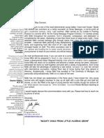 N. McIntyre Letter of Recommendation Jalisa Johnson (Assistant Director at Camp Newaygo)