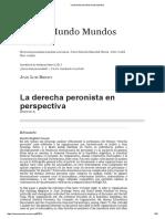 Besoky La Derecha Peronista en Perspectiva