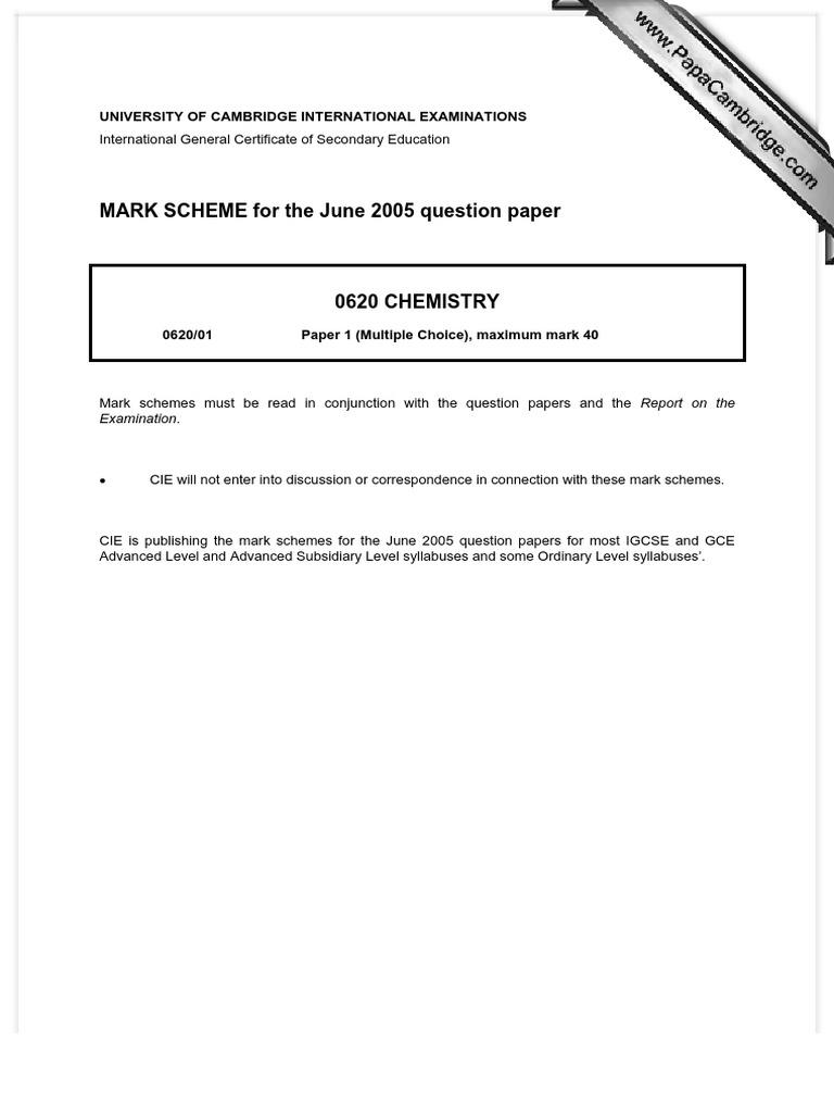 cie 0522 coursework mark scheme