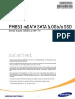 Datasheet PM851 MSATA v10