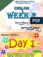 Quarter 1 Week 2 English