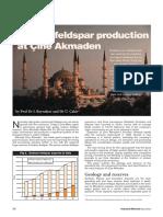 Quality Feldspar Production