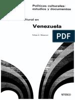 Felipe Massiani_Política Cultural en Venezuela