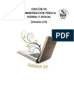 Lexicón de Administración Pública Federal y Estatal 2.0...