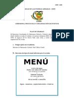 Ceremonia y Protocolo_Plan de Trabajo