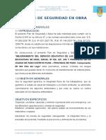 Plan de Seguridad y Salud Ocupacional Villa Del Lago