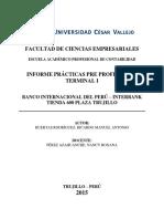 Informe Prácticas Pre Profesionales Terminal i