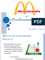 McDonald's cost leadership strategy
