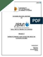Jbmsummerintershipreport 140614120914 Phpapp02 (1)