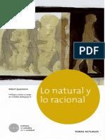 Lo Natura y Lo Racional (Prólogo) - R. Spaemann