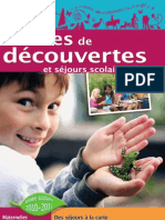 Classes de Decouverte 2010-2011 Nationale