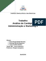 Trabalho Analise de Cardapio_Adm. e Mark.